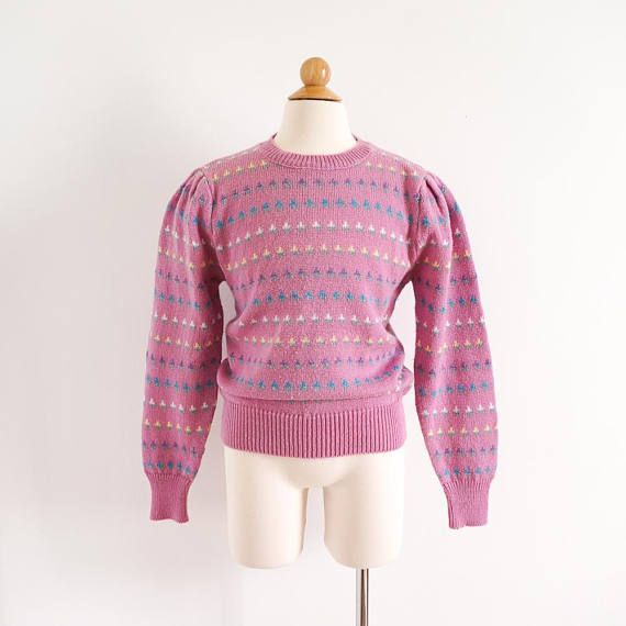 Vintage 1980s Girls Size 12 Gitano Pullover Knit Sweater