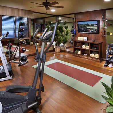 1000 ideas about home workout rooms on pinterest home for Home gym room