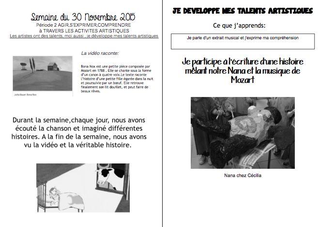 Bona Nox cahier de liaison n°12 (2015-2016