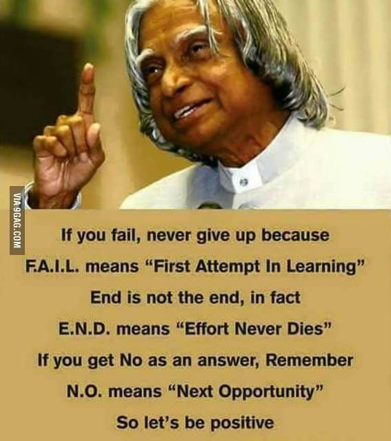 RIP Dr.Abdul Kalam, you are still a great inspiration for young minds. - 9GAG
