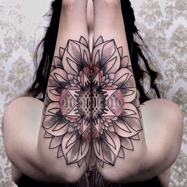 Floral arms tattoo