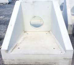 an option of a precast head wall for the overflow of the wet well