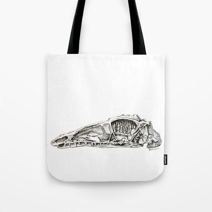 Coelophysis skull Tote Bag