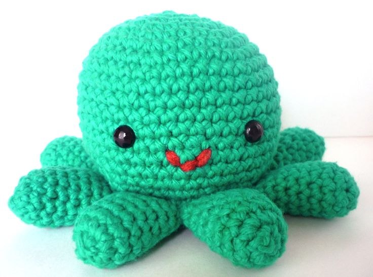 Free Crochet Pattern Stuffed Animals : Hector the Octopus - Cute Amigurumi Crocheted Stuffed ...