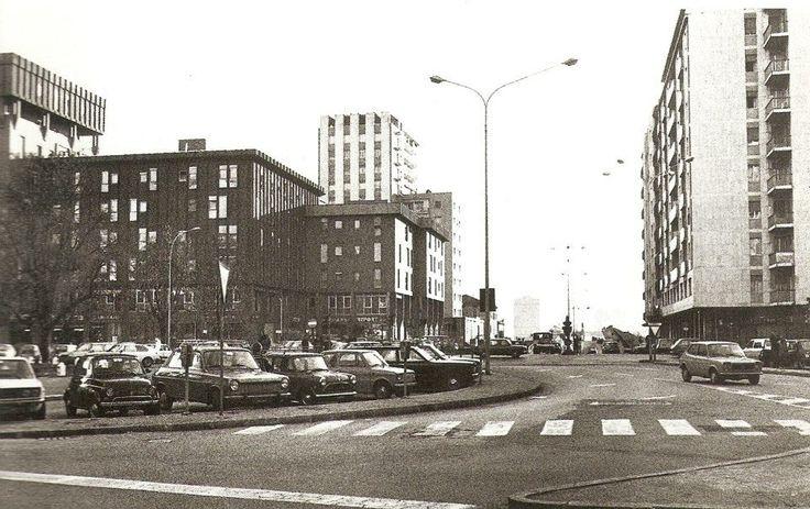Brescia - Cavalcavia Kennedy foto  all' incrocio di Via Gramsci con Via Vittorio Emanuele anni '70