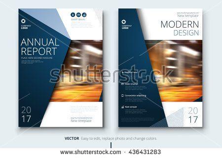 Modern dark blue Annual report, Annual report cover, Annual report template, Annual report design, Annual report layout, Annual report A4, Annual report concept, Annual report brochure, Annual report - stock vector