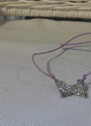 Kup mój przedmiot na #vintedpl http://www.vinted.pl/akcesoria/bizuteria/16804173-fioletowa-zawieszka-motyl-bransoletka-typu-lilou