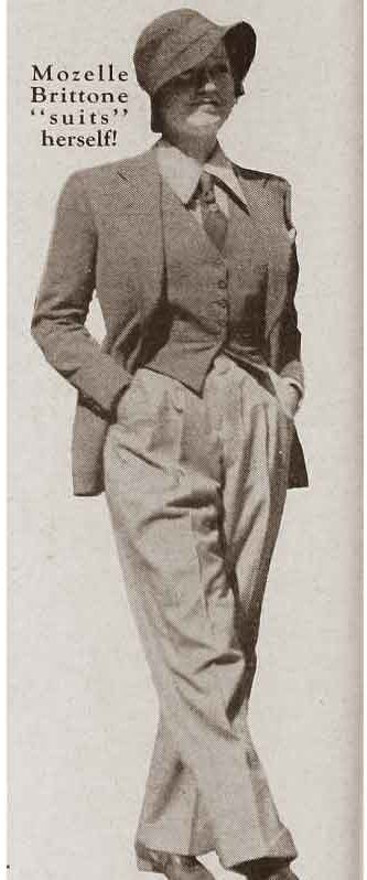 1930s Marlene Dietrich in a pant suit f929014648b3