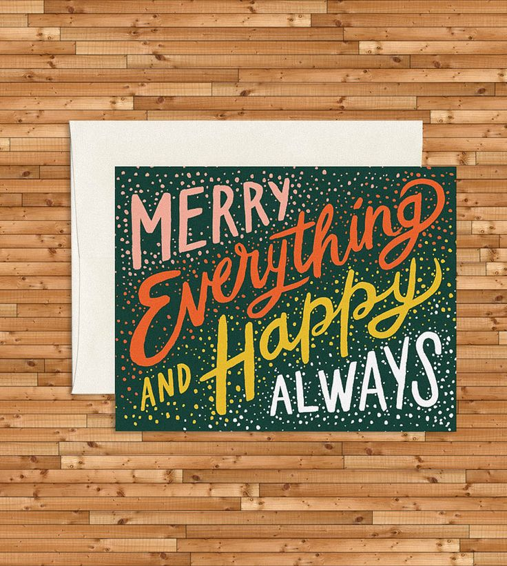 Merry Everything Holiday Cards, Set of 8 by Idlewild Co. on Scoutmob