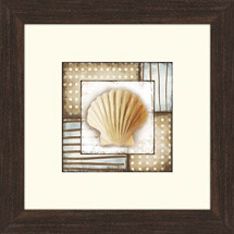 12. x 12.5 20.97 with glass Walmart: Brown and Blue Framed Art, II