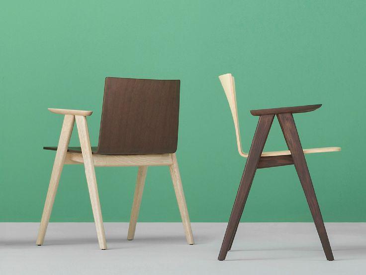 OSAKA Chair with armrests by PEDRALI design Michele Cazzaniga, Simone Mandelli, Antonio Pagliarulo