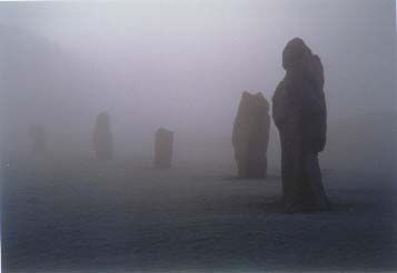 The Merlin Stone at Avebury. This village is ringed by one of the most important prehistoric monuments in Britain.