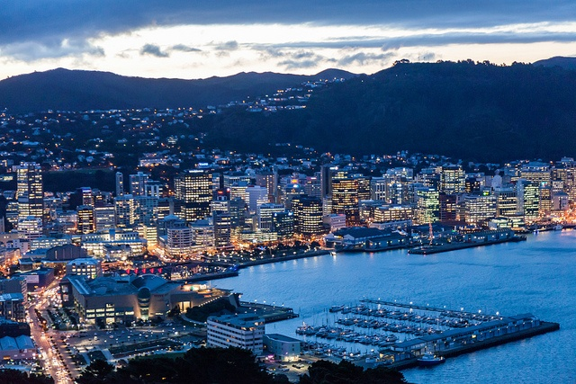 #Wellington City at dusk from Mount Victoria