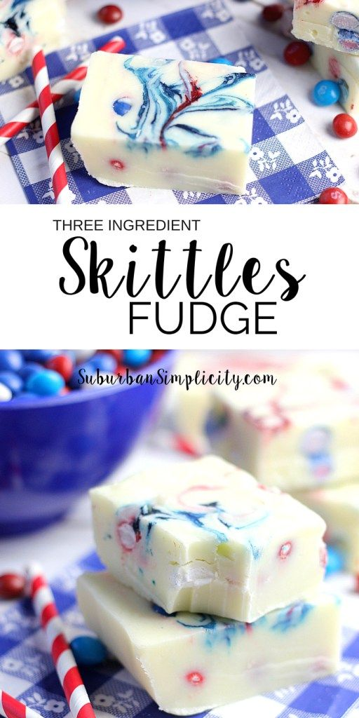 Enjoy this Delicious Creamy Skittles Fudge all summer long! It's an easy recipe with only 3-ingredients that's perfect for summertime fun.