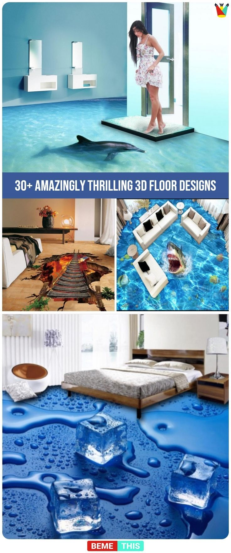 30 Amazing Floor Design Ideas For Homes Indoor Outdoor: 30+ Thrilling 3D Floors That Will Amaze You