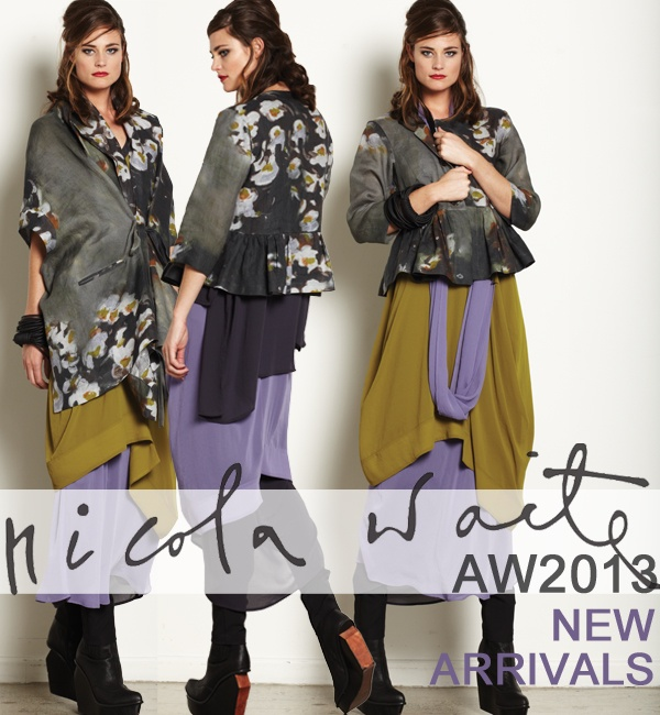 NICOLA WAITE  New season deliveries have arrived in store,   featuring our exclusive limited edition print   coupled with delicious colour sheers,   must-have shirts, suiting and a highlight plaid coat.  Visit www.nicolawaite.com
