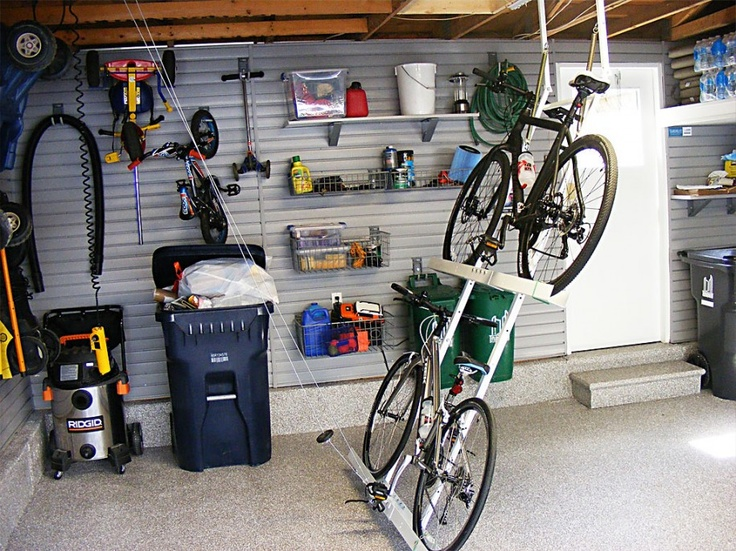 Bike rack. Garage organization.