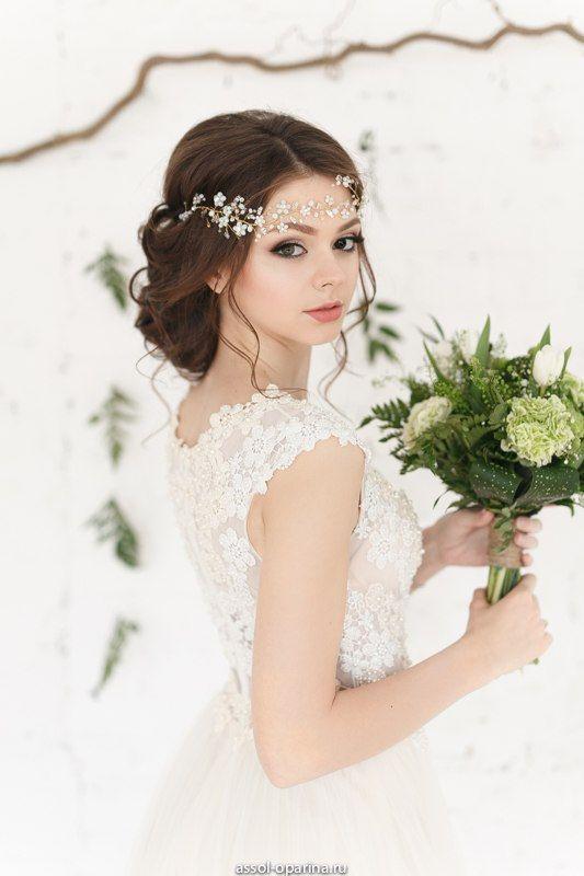 Cristal decorado boda diadema nupcial casco Halo por EnzeBridal