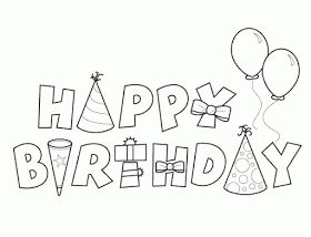 happy birthday coloring pages - Feliz Cumpleanos Coloring Pages