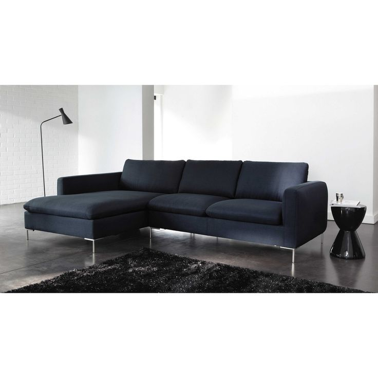 5 Seater Fabric Corner Sofa In Midnight Blue