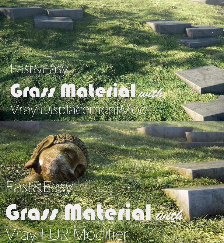 Two ways to create realistic grass using 3ds Max + V-Ray  By Arch Viz Camp.