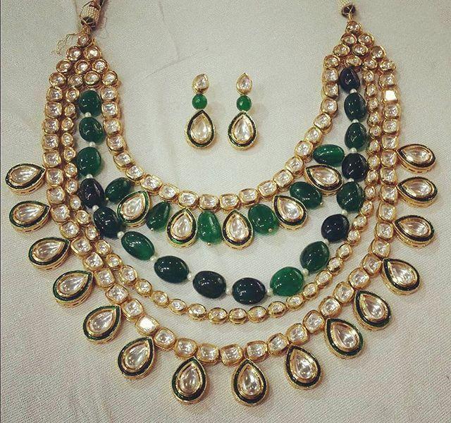 Nizam #royal #ethnic #kundan #emeralds #semiprecious #semipreciousstones…