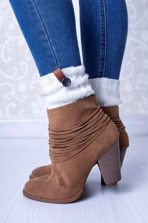 Our Boot Cuffs are not just for tall boots. Rock them with your ankle booties too!
