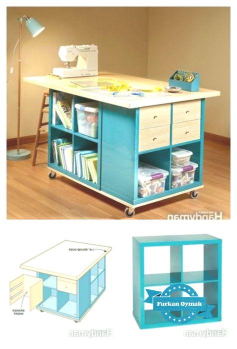 Bastel- / Hobbyschreibtisch mit IKEA – Teilen !!! DIY Basteltisch mit … …   – Ideen fürs Zimmer