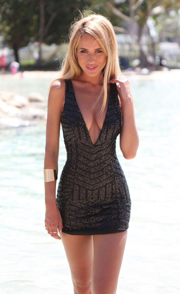 $44.99 Sexy Deep V-Neck Backless Sleeveless Sequins Dress