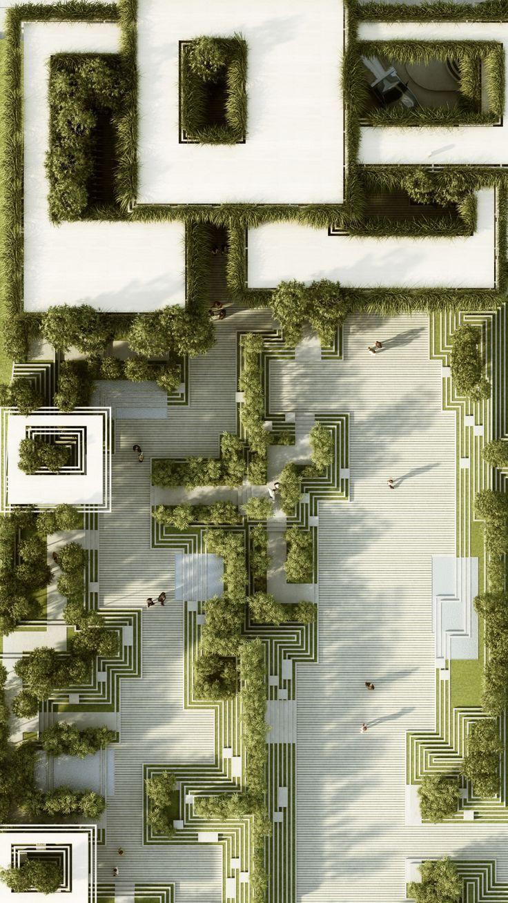 Penda Gallery kreiert von alten indischen Treppen inspiriertes Landschaftsdesign…