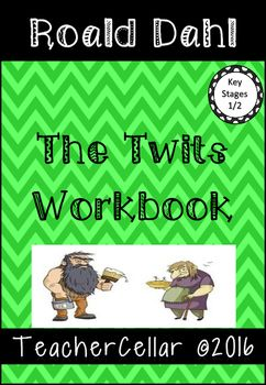 30 page workbook for ages 6-10 years with a variety of written tasks based on the nove The Twits by Roald Dahl. Differentiated book reviews Differentiated written exercises Character studies grammar activities drawing activities Creative and Imaginative writing