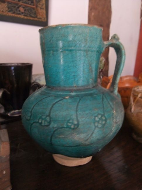 Islamic jug 12-13th century in fritware - bought in 1986 to celebrate the birth of our son (in 1985)