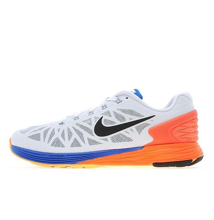 Nike Lunar 6 Heren - Oranje Wit Koningsblauw/Antraciet Nieuwe Co