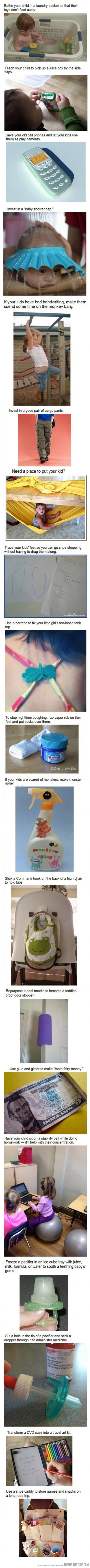 Don't have kids but if I did these would be great tips :-)