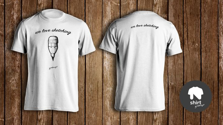 """""""We love Sketching"""" TShirt, available with two printing options, all the design on the front of the TShirt or you can """"brake"""" it on the two sides."""