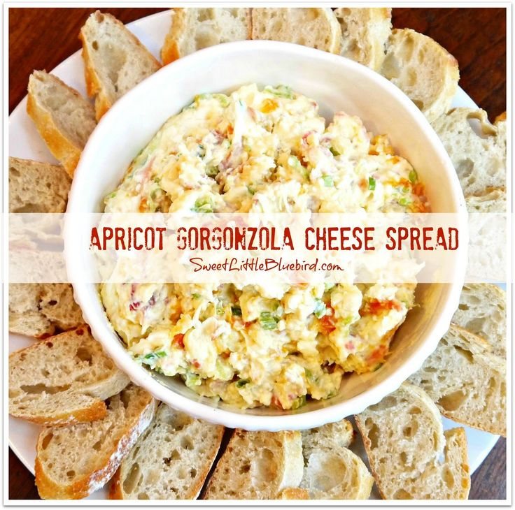 APRICOT GORGONZOLA CHEESE SPREAD - My most requested appetizer!!  |  SweetLittleBluebird.com