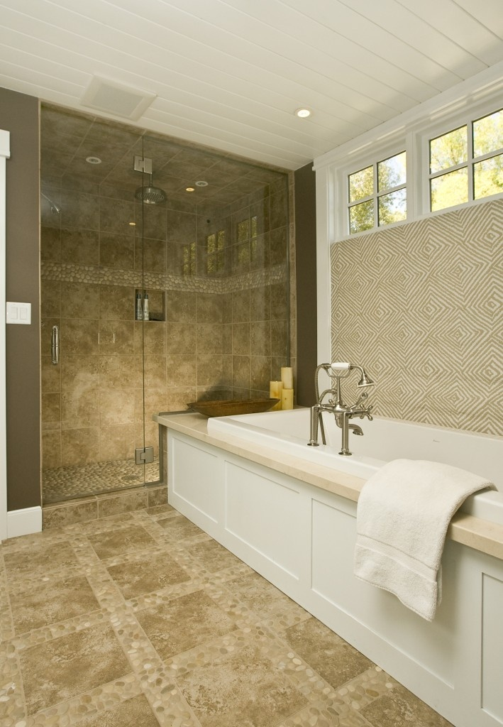 45 best bath floor pebbles images on Pinterest | Bathrooms ...