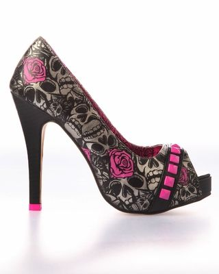yup, I have these! just not this color...  Iron Fist Muerte Punk Princess Platform Heel Shoe - Pewter (Vegan) LOVE !!!!!