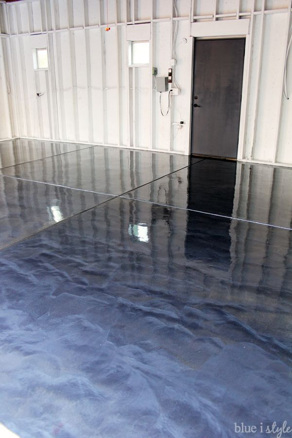 diy metallic garage floor finish gorgeous functional and more durable than paint or