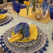 Resultado de imagem para mesa posta cor amarelo