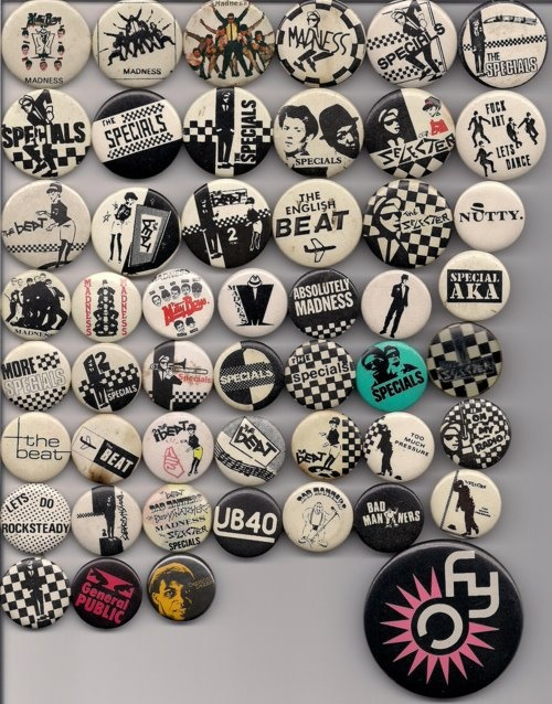 Badges Ska....so big when I was a kid. Covered in them!