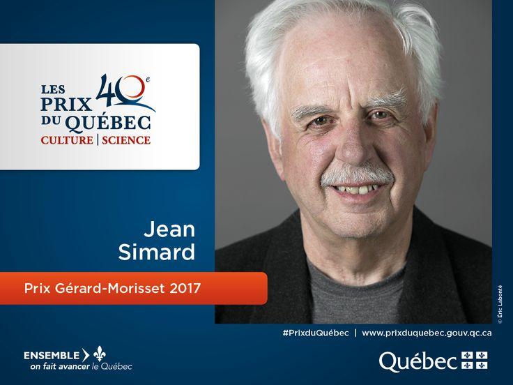 Jean Simard est le lauréat du prix Gérard-Morisset 2017 en  patrimoine. #PrixduQuébec #PatrimoineQc