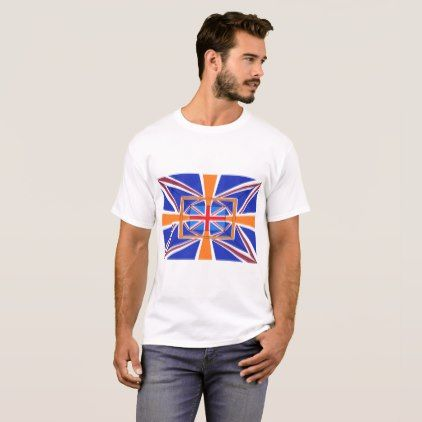 Union Jack T-Shirt Mens - red gifts color style cyo diy personalize unique