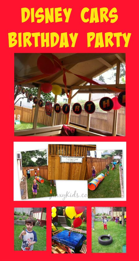 Disney Cars Birthday Party Theme with Decorations, Games and Activities