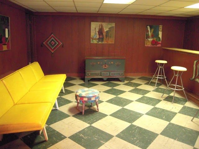 120 best retro homes images on pinterest 1970s phoenix for Retro basement ideas