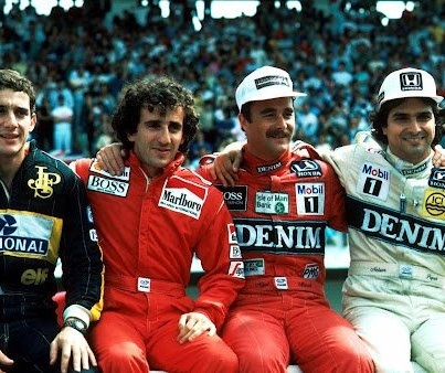 Senna, Prost, Mansell, Piquet: 11 world titles, 146 victories, 154 pole positions and 759 Grands Prix - Estoril, 1986