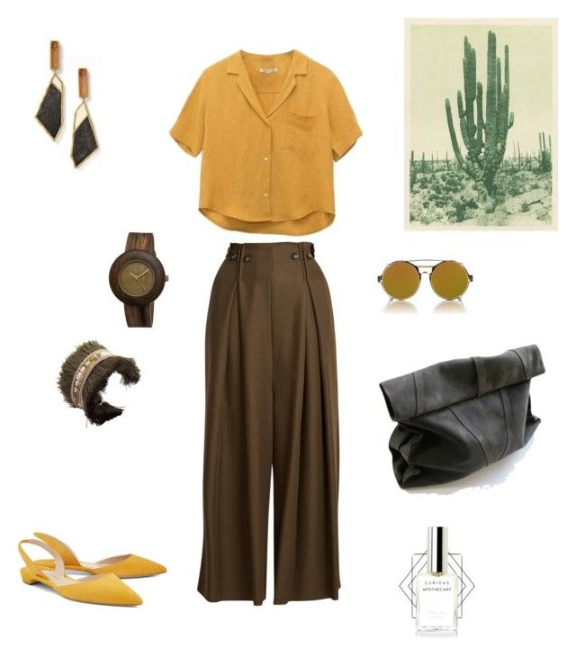 Desert Story by futuraocculto on Polyvore featuring polyvore, fashion, style, Sportmax, Paul Andrew, Jenny Packham, Earth, Finlay & Co., TIBI, clothing, yellow, black, Desert, wild and brown