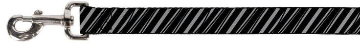 Black and Grey Distressed Diagonal Striped Pattern Fun Animal Pet Dog Cat Leash