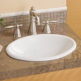Cheviot White Drop In Oval Bathroom Sink 1102 Wh