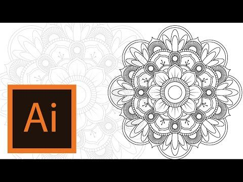 how to draw a mandala in illustrator
